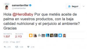 tweet samanta hero baby